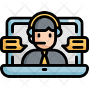 Conference Video Call Icon