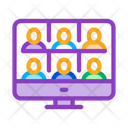 Online Conference Meeting Icon