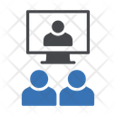 Videocalling Conference Teamwork Icon