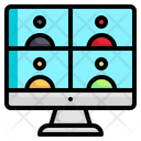 Online Conference Videoconference Webcam Icon