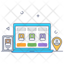 Online Meeting Online Conference Online Users Icon