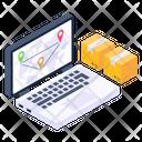 Online Logistics Online Shipment Online Delivery Icon