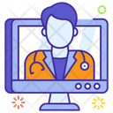 Online Consultant Counselor Specialist Icon