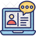 Online Consulting Online Discussion Remote Consultation Icon
