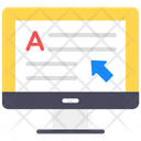 Online Content Elearning Online Education Icon