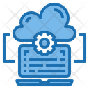 Content Cloud System Online Icon