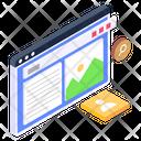 Web Content Website Content Web Article Icon