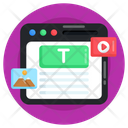 Online Content Marketing Web Content Web Layout Icon