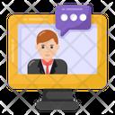 Online Talk Online Conversation Online Chat Icon