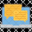 Online Conversation Online Communication Online Chat Icon