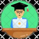 Online Study Online Graduation Online Convocation Icon