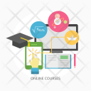 Online Courses Education Icon
