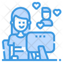 Online Couple Chat Icon