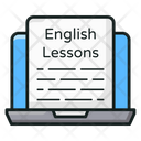 Online English Online Learning Online Education Icon