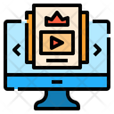 Courses Online Learning Icon