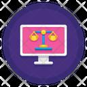 Online Court Court Website Court Browser Icon