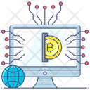 Digital Money Bitcoin Network Online Cryptocurrency Icon