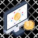 Bitcoin App Online Bitcoin Blockchain Business Icon