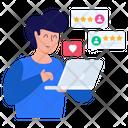 Online Feedback Online Customer Rating Clients Feedback Icon