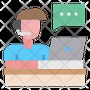 Customer Man Service Icon