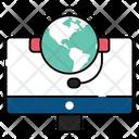 Online Customer Service Online Customer Support Helpline Icon