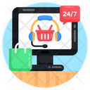 Online Customer Services Customer Support Call Center Icon