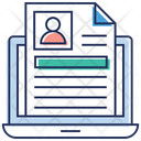 Online Cv Online Job Searching Web Profile Icon