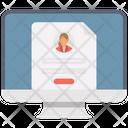 Resume Online Cv Curriculum Vitae Icon
