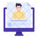 Online Resume Online Cv Online Profile Icon