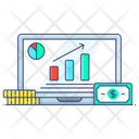Online Data Growth Report Data Analytics Icon