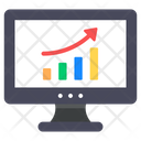Online Data Data Analytics Growth Chart Icon