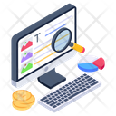Web Analytics Business Infographic Data Visualization Icon