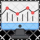 Growth Chart Online Data Data Analytics Icon