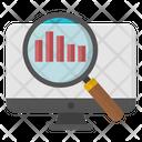 Online Data Analysis Online Infographic Online Statistics Icon