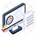 Search Coding Online Data Analysis Data Finding Icon
