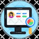 Business Analysis Online Data Analysis Descriptive Data Icon