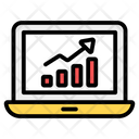 Online Data Analytics Data Analytics Growth Chart Icon