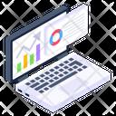 Online Analytics Online Statistics Descriptive Data Icon