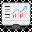 Online Data Analytics Icon
