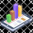 Mobile Analytics Mobile Chart Mobile Data Icon