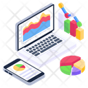 Web Analytics Data Visualization Business Reporting Icon