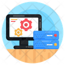 Server Processing Online Data Processing Digital Data Processing Icon