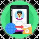 Online File Transfer Online Data Transfer Global Data Transfer Icon
