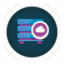 Online Database Digital Database Cloud Technology Icon