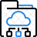 Online Database Cloud Icon