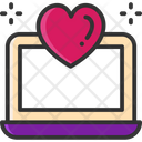Online Dating Laptop Heart Icon