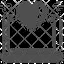 Laptop Heart Love Icon