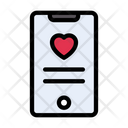 Mobile Online Dating Icon