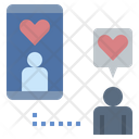 Online Dating Relationship Love Icon