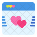 Browser Love Heart Icon